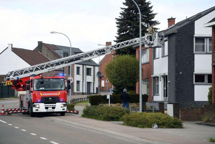 Brandweer moet uitrukken voor losse dakgoot aan de Wilseselsesteenag in Leuven