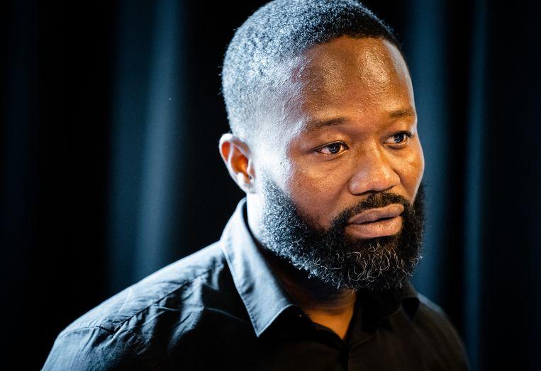 Jerry Afriyie, voorman van actiegroep Kick Out Zwarte Piet. Beeld ANP