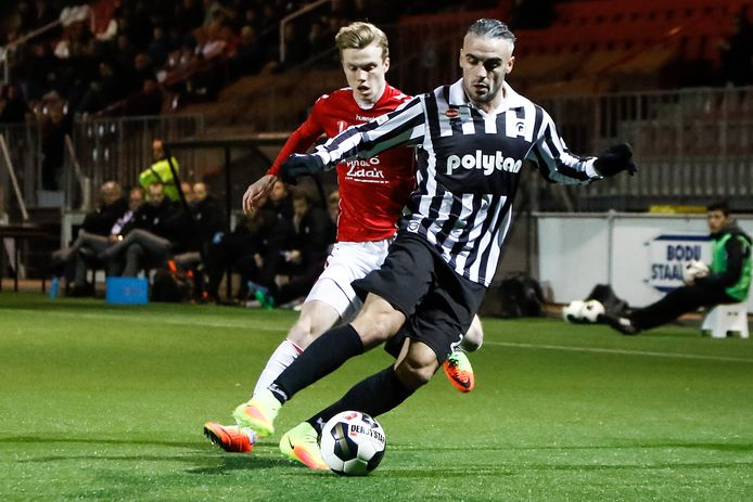 Jong PSV-spits Dani van der Moot. Vorig seizoen werd hij verhuurd aan Jong FC Utrecht.