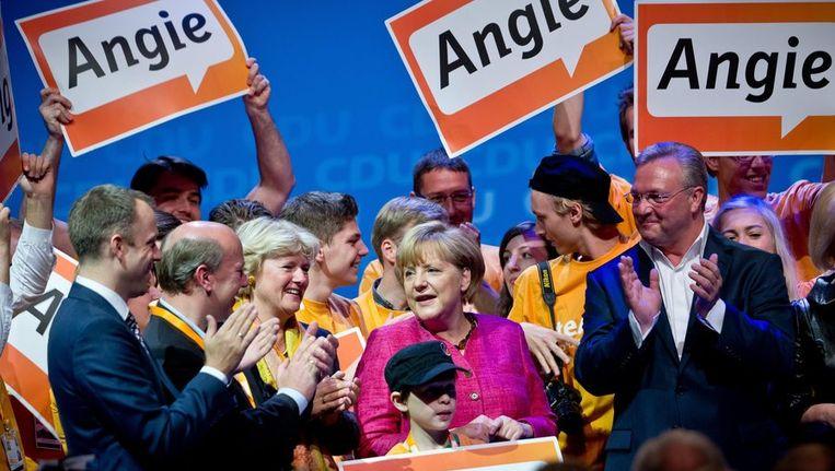Angela Merkel voert campagne Beeld epa