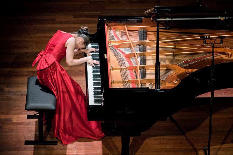 De Japanse pianist Asagi Nakata. Beeld Allard Willemse