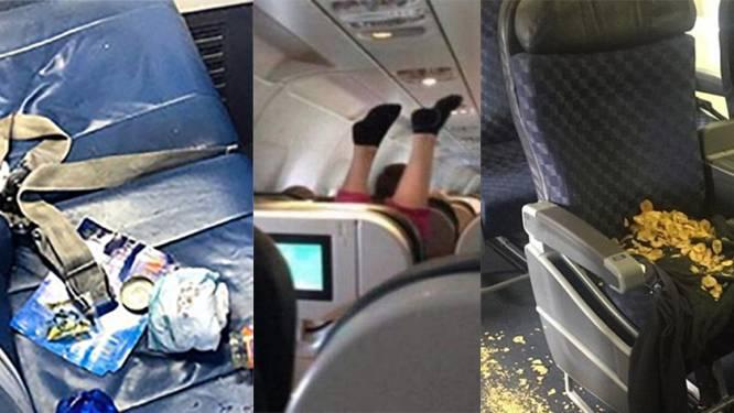 Vuile luiers, vieze voeten en etensresten: passagiers delen vliegtuighorror