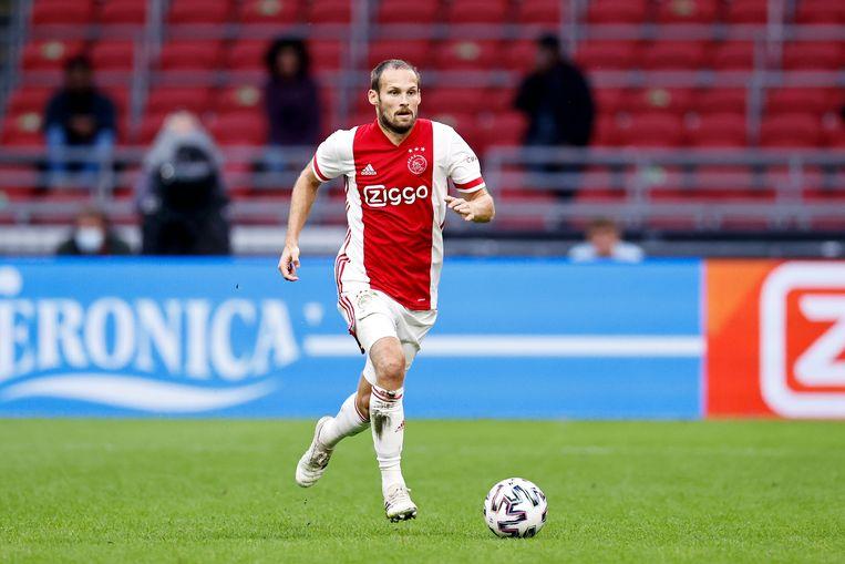 Daley Blind tijdens de vriendschappelijke wedstrijd tussen Ajax en Hertha BSC. Beeld Hollandse Hoogte /  ANP