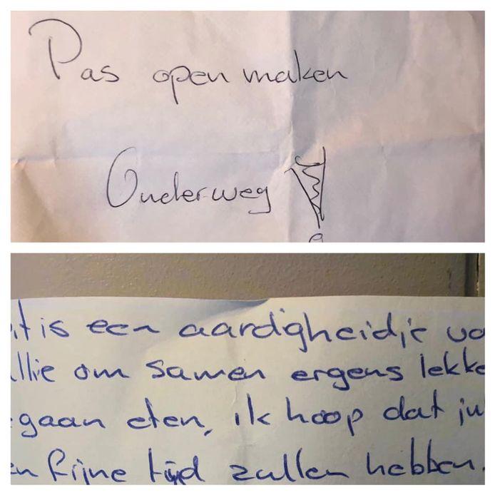 'Pas openmaken onderweg!', stond er op de envelop die Miquell vond.