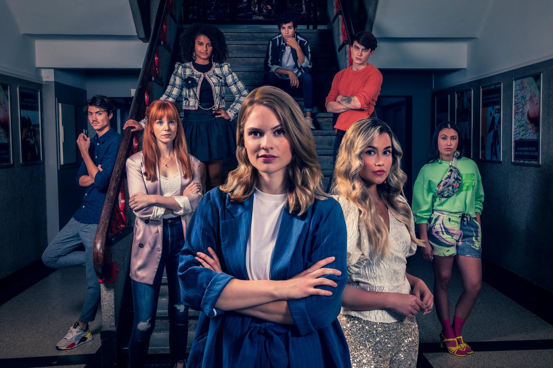 De cast van jeugdserie De Slet van 6VWO Beeld AVROTROS