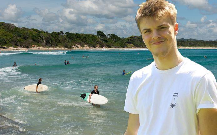 Théo Hayez verdween in mei in Byron Bay, dat erg populair is bij surfers en backpackers.