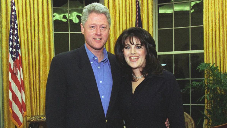 Bill Clinton en Monica Lewinsky Beeld William J Clinton Presidential Library