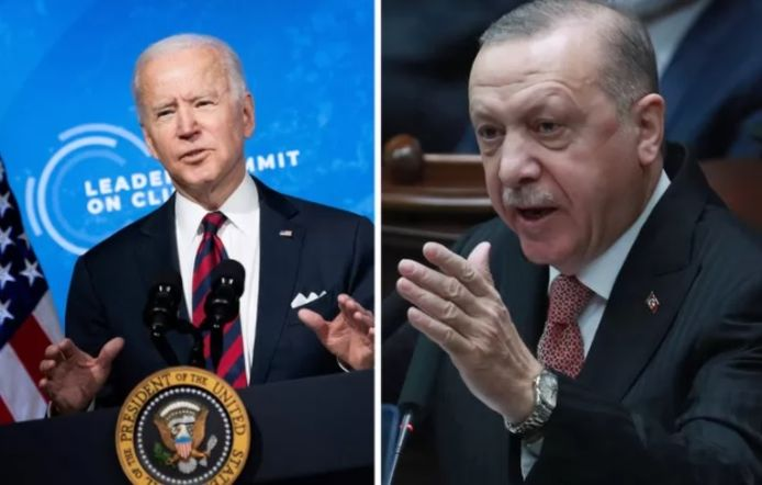 Joe Biden en Recep Tayyip Erdogan.
