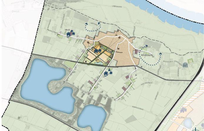 De woningbouwplannen voor Winssen.