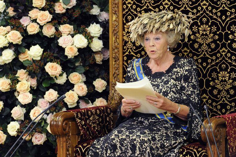 Koningin Beatrix op Prinsjesdag.  Beeld ANP