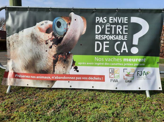 Campagne de sensibilisation au décès des vaches dus à l'ingestion de métal à Incourt