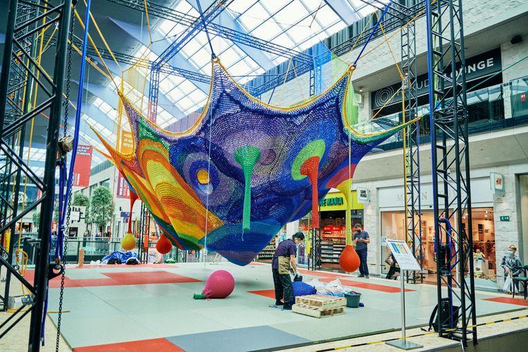 Installatie op 'Paradise' in Kortrijk. Beeld Thomas Sweertvaegher