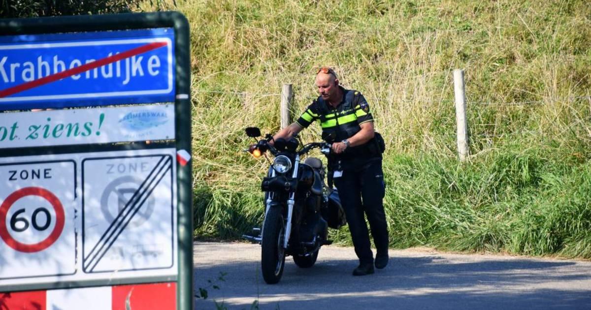 Motorrijder gewond bij ongeluk Krabbendijke.