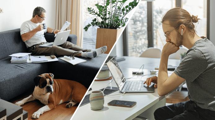 Zou je alleen nog maar  thuis willen werken?