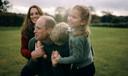 William toont zich als een herkenbare familieman.