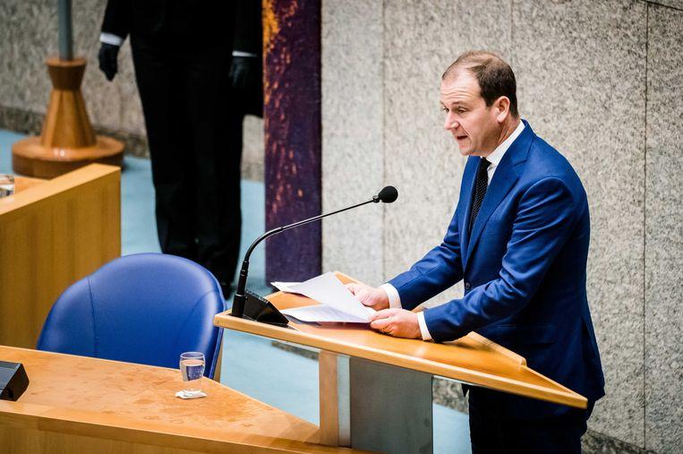 PvdA-fractievoorzitter Lodewijk Asscher in de Tweede Kamer. Beeld ANP
