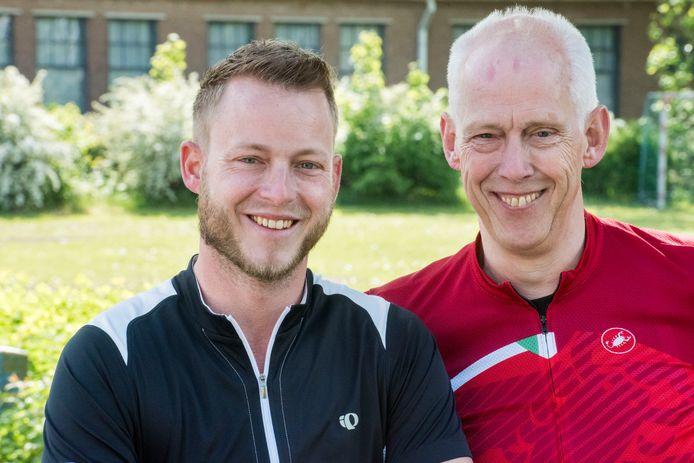 Evert-Jan (links) en Aart Engeltjes uit Elburg hebben een  stichting om geld op te halen voor diabetes en specifiek voor onderzoek naar kunstmatige alvleesklier.