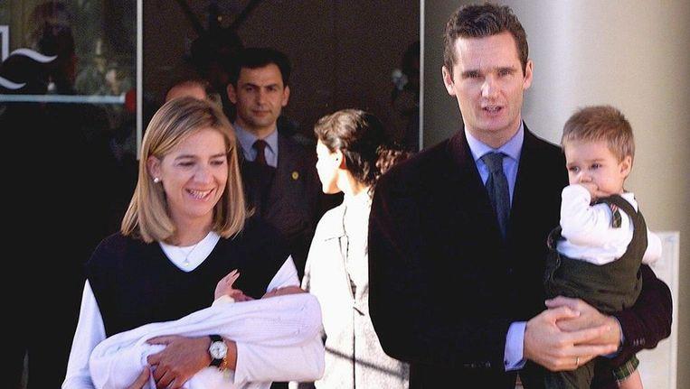 Prinses Christina en haar echtgenoot Iñaki Urdangarín. Beeld Epa uit 2000.