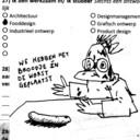 Absurde illustraties op basis van DDW-enquetevragen.