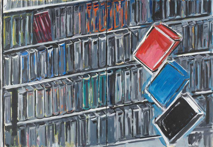 'Zonder titel', doek uit 1977 van René Daniëls.