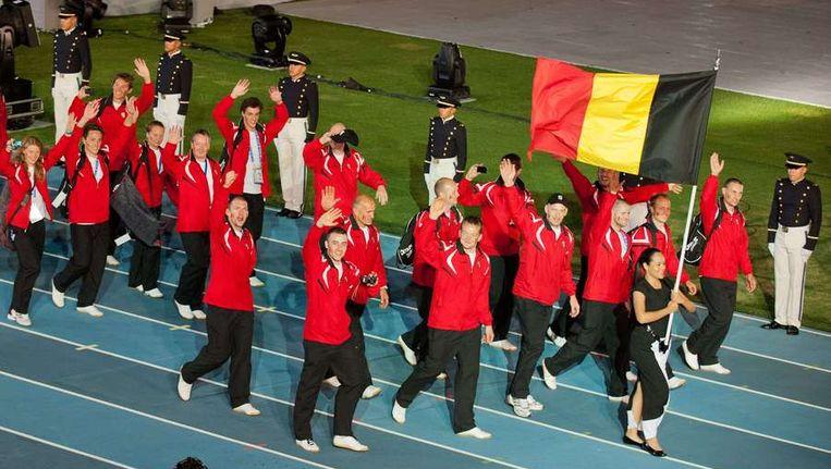 Een deel van de Belgische delegatie in Cali. Beeld AFP