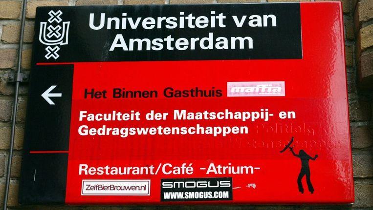 Universiteit van Amsterdam (UvA), de faculteit in de Oudemanhuispoort. Beeld anp
