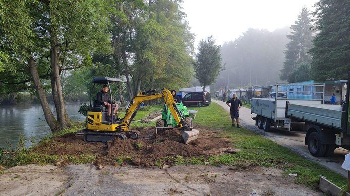 Het terrein van de camping in Barvaux wordt gefatsoeneerd