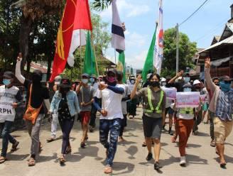 Vijf doden bij protesten in Myanmar, 12.000 burgers op de vlucht na bombardementen