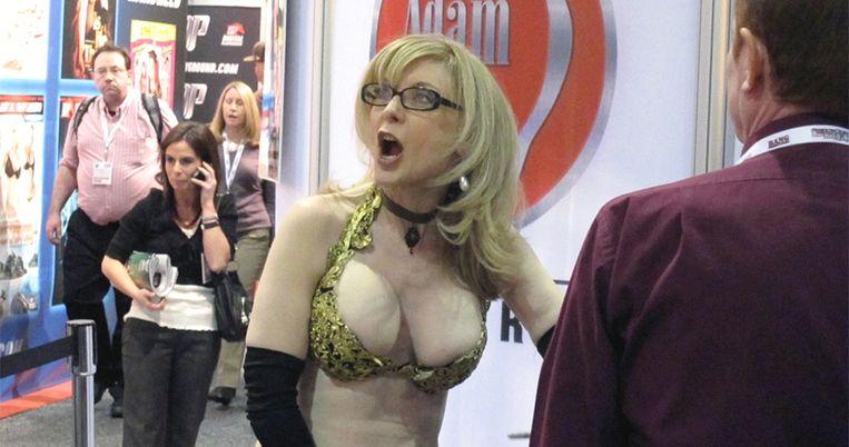 Voormalig pornoactrice Nina Hartley