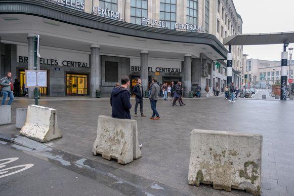 Brussel-Centraal, waarheen de man vluchtte bij aankomst in België