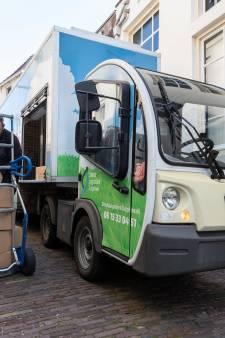 Binnenkort zoeven er elektrische wagentjes door de Amersfoortse binnenstad om winkels te bevoorraden