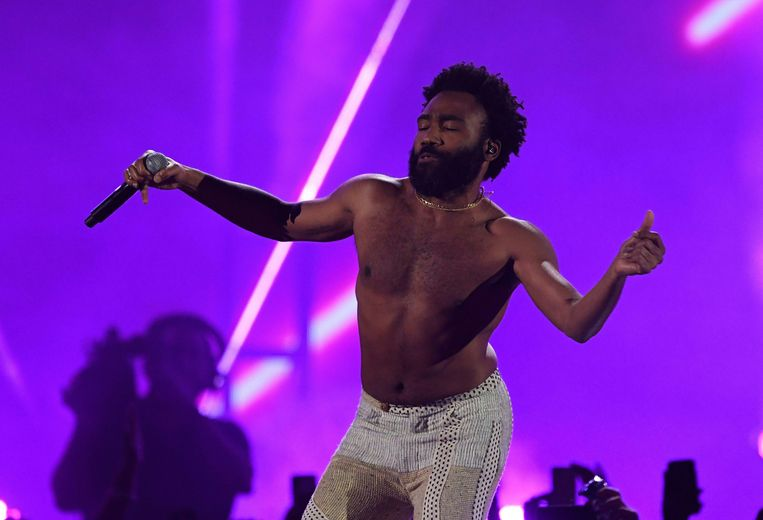 Childish Gambino tijdens een optreden in Las Vegas in september vorig jaar. Beeld AFP