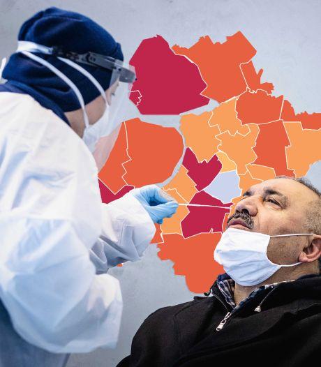 KAART | Vijf coronasterfgevallen in Oost-Nederland, zes nieuwe gemeenten in gevarenzone