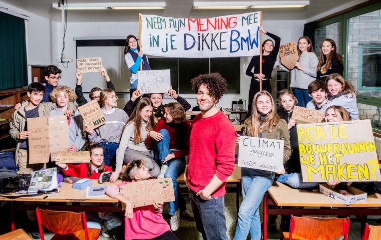 Mathias Vander Hoogerstraete: 'Deze jonge mensen worden de politici en leiders van de toekomst.' Beeld