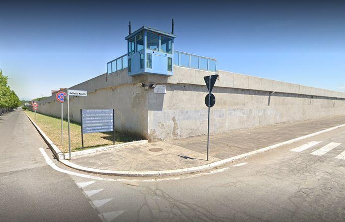 De Rebibbia-gevangenis in Rome.