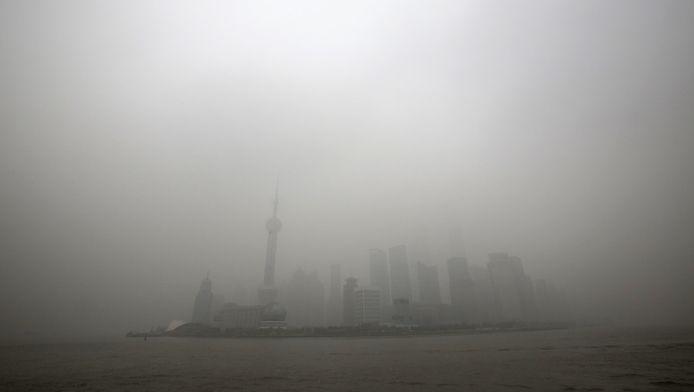 De lucht in Shanghai heeft al betere tijden gekend.