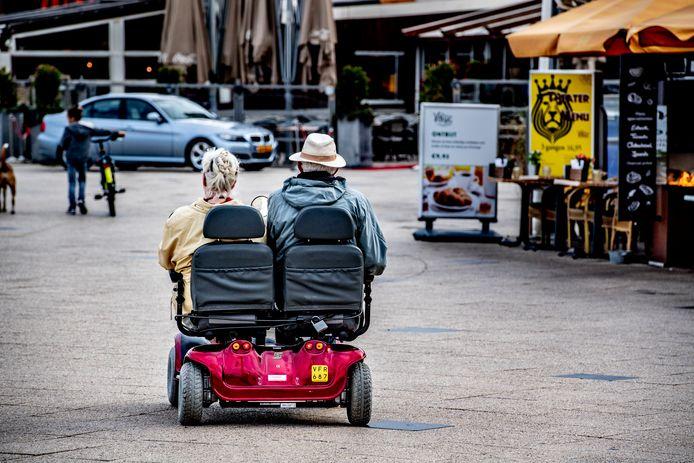 Foto is ter illustratie van bejaarden