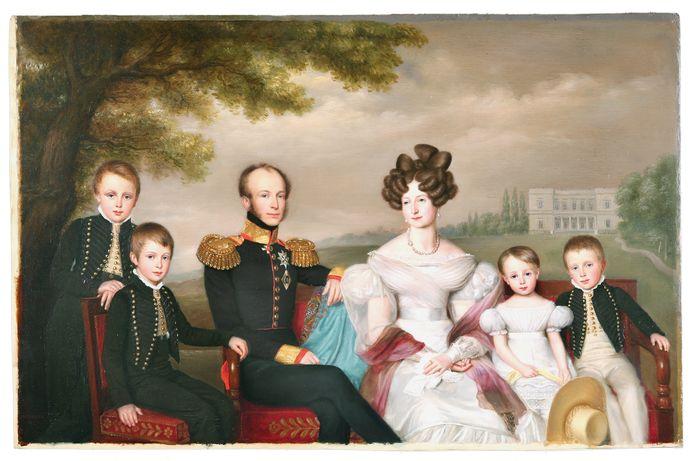 Familieportret van Willem II Anna Paulowna