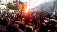 Agenten verwond bij betoging tegen Marine Le Pen in Nantes