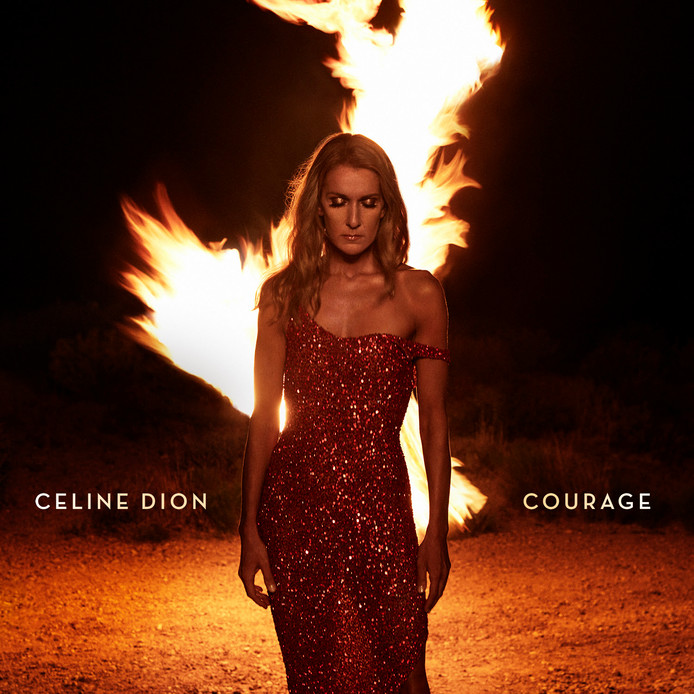 Celine Dion albumcover Courage.