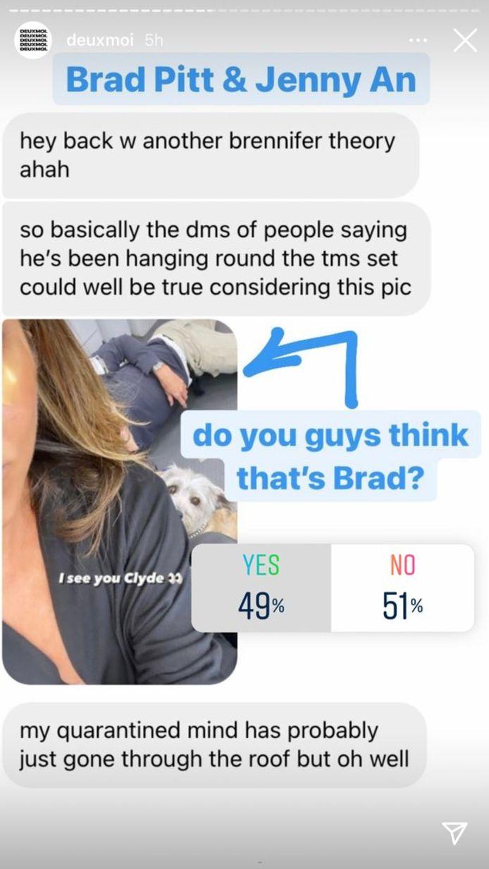 Is dat Brad op de achtergrond?