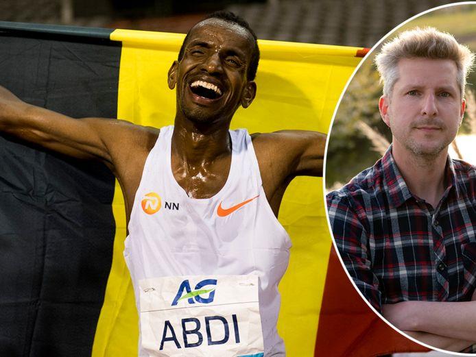 Bashir Abdi en zijn eerste leraar Nederlands, Peter Vervaet.