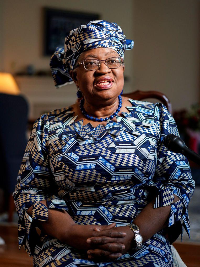 'Forget business as usual', is de boodschap van de Nigeriaanse Ngozi Okonjo-Iweala, de eerste vrouw die de Wereldhandelsorganisatie gaat leiden. Ook in andere internationale organisaties treden topvrouwen aan.  Beeld REUTERS