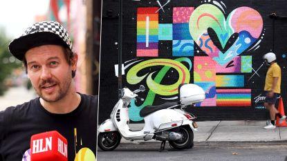 Graffiti met boodschap van hoop: onze man in New York neemt je mee naar bijzonder initiatief