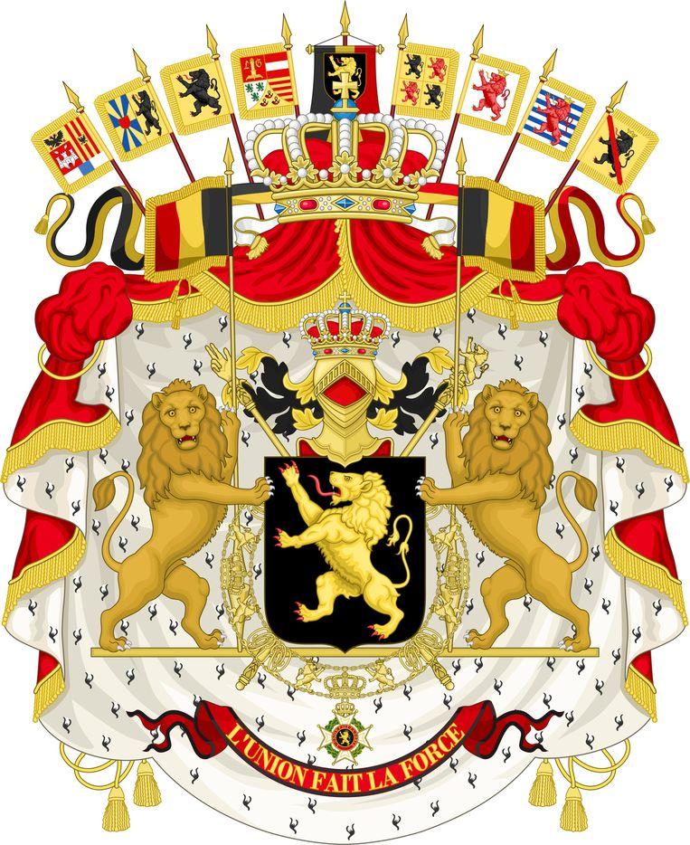 Wapenschild koningshuis Wapenschild Belgie Beeld RV