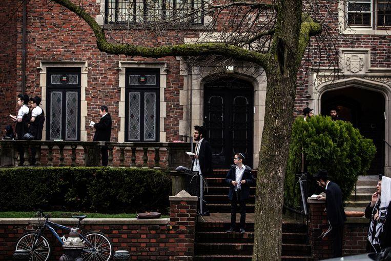 Krauss: 'In de wijk Crown Heights, dicht bij mijn huis, wonen ultraorthodoxe joden. Welk recht heb ik om op hun levenswijze kritiek te uiten?' Beeld NYT/KIRSTEN LUCE