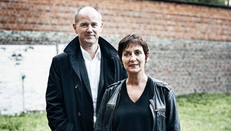 Peter Quaghebeur, sinds juni 2012 CEO van WPG Uitgevers België, en Marianne De Baere, sinds 2013 uitgeefdirecteur bij Manteau. Beeld Joris Casaer