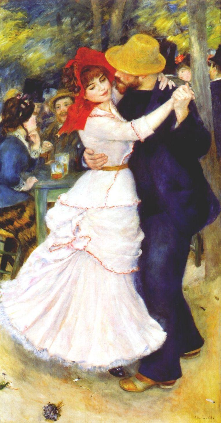 Dance at Bougival (1883) Beeld -