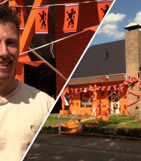Joris schilderde zijn huis knaloranje: 'Idee ontstond na een paar biertjes'