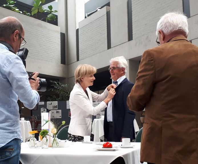 Cor Slaats uit Liessel met zijn vrouw Anneke.